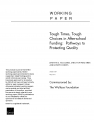Working Paper: Tough Times, Tough Choices in After-school Funding: Pathways to Protecting Quality